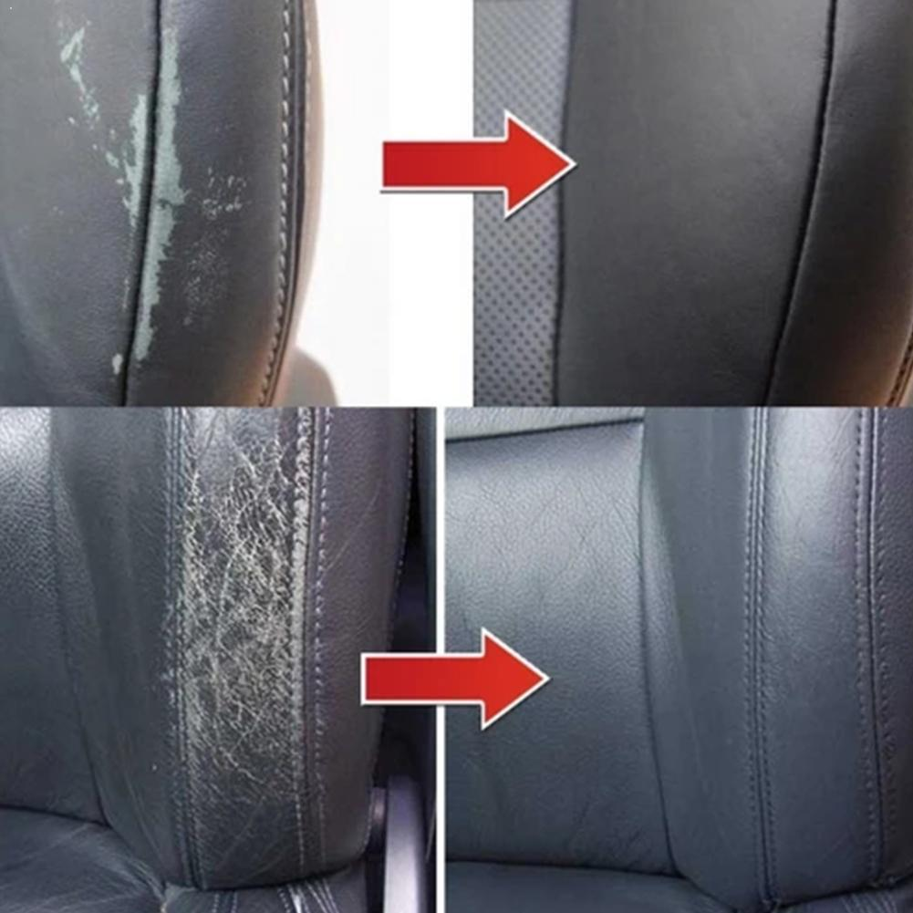 Gel de reparación de cuero para asiento de coche, reparación de cuero para el hogar, reparación de Color complementario, reacondicionamiento, pasta de crema, limpiador de cuero X4P7, 20ml
