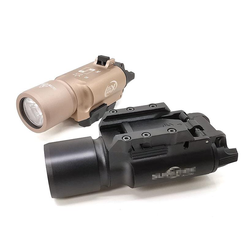 High Output Tactical  hunting scope X300 Pistol Gun Light Weapon light Lanterna Airsoft Flashlight Fit 20mm Weaver Rail