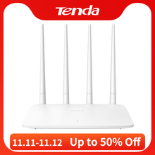 Tenda F6 Wifi Router 300Mbps 2.4G 802.11 B/G/N 4 Antennes Band Draadloze Routers Wifi repeater App Controle, engels InstellingDraadloze Router