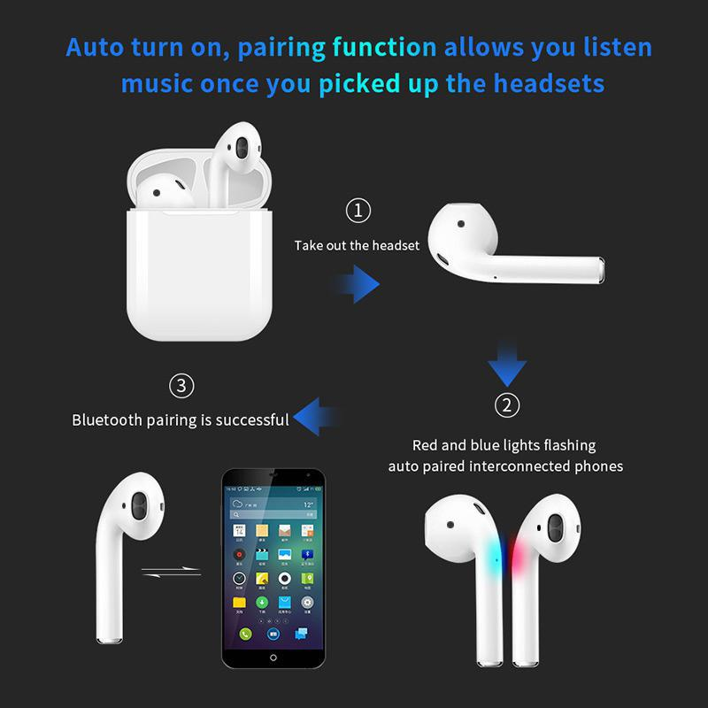 TWISTER.CK <font><b>i19</b></font> <font><b>TWS</b></font> Wireless Earphone Bluetooth earphones Headset with Charging Case Earbuds For iPhone Huawei Xiaomi Samsung image