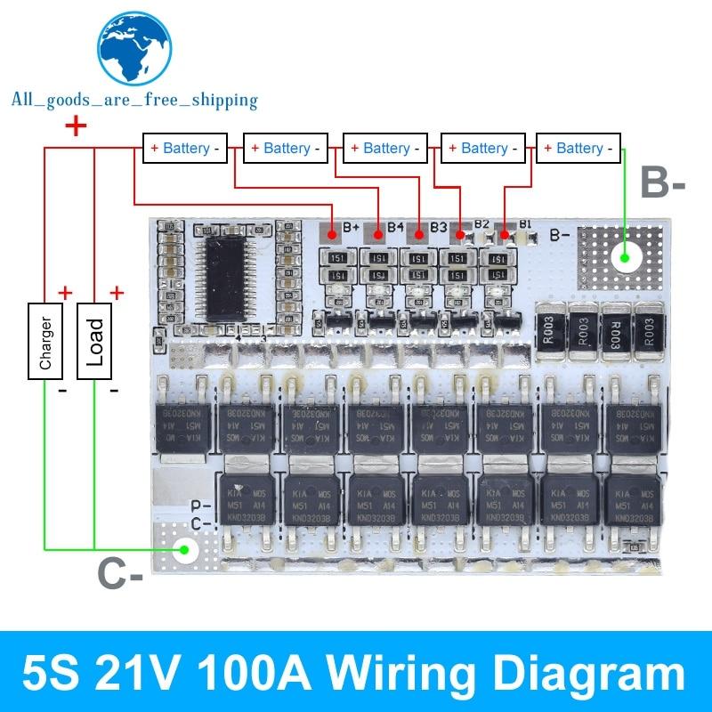 18V 21V 100A 3S/4/5S BMS трехкомпонентная литиевая Батарея защиты печатной платы литий полимерная батарея для зарядки Модуль|Интегральные схемы|   | АлиЭкспресс