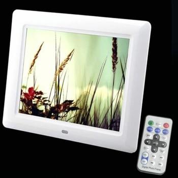 7 pulgadas TFT LCD Digital foto películas marco pantalla ancha escritorio con flash de luz LED MP3 reproductor MP4 despertador
