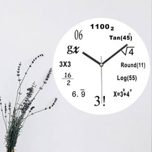 New Acrylic Wall Clock Mathematical Formula Living Room Office Of Mirror Home Decor Hot Sale