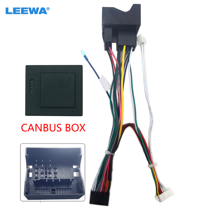 LEEWA автомобильный стерео аудио 16pin Android электропроводка жгут проводов кабель адаптер с Canbus коробка для Ford Mondeo /Focus 07-11/C-MAX
