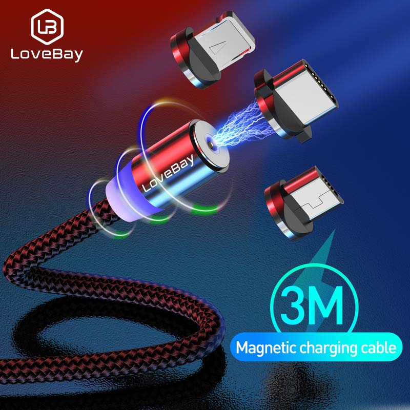 Lovebay Magnetic USB Cable Fast Charging For Iphone Micro TYPE C USB Cord Magnet Micro USB Cable Mobile Phone Cable USB Cord|Mobile Phone Cables|   - AliExpress