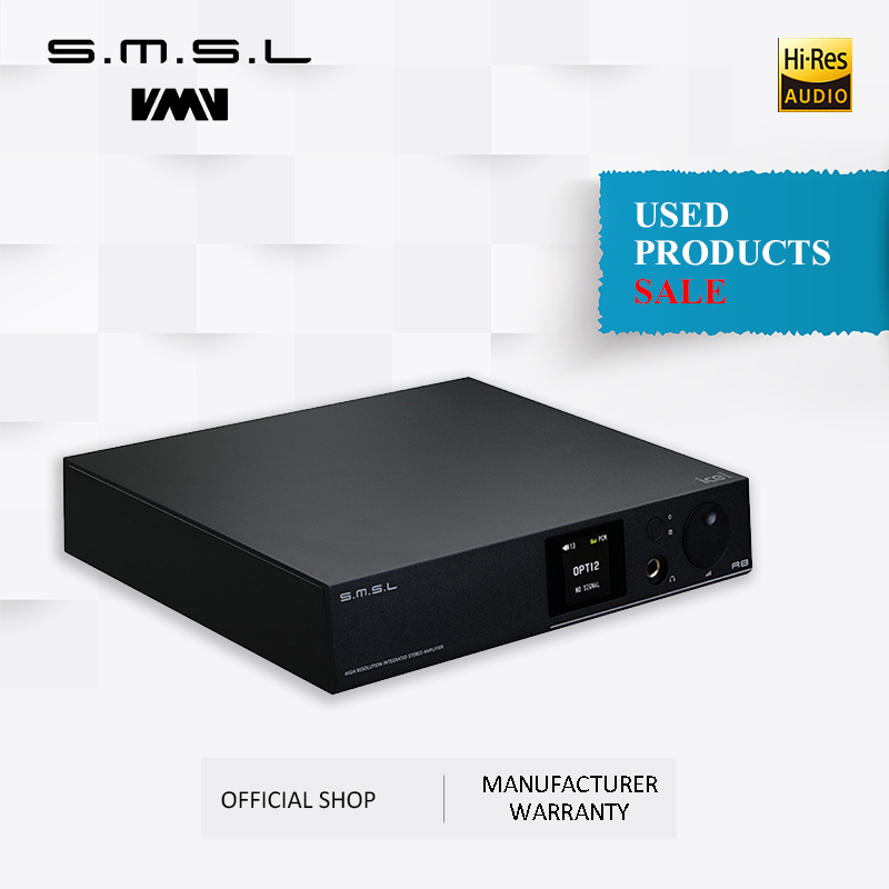 Used products SMSL A8 125Wx2 AK4490 DSD512 XMOS HIFI ICEpower Module Audio Digital Power Amp/DAC/Headphone Amp Latest Solution