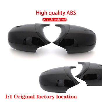 Carbon Fiber Pattern Car Styling Replacement Facelifted Rearview Mirror Cover Caps for BMW E90 E91 E92 E93 LCI M3 Style image