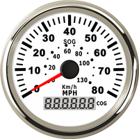 Auto Instrument Panel Speedometers Gauges 0-130km/h 0-80MPH Speed Mileometer 85mm Waterproof GPS Speed Indicators with Backlight
