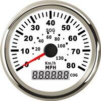 Panel de instrumentos automático velocímetros medidores 0-130 km/h 0-80MPH miómetro de velocidad 85mm impermeable indicadores de velocidad GPS con retroiluminación