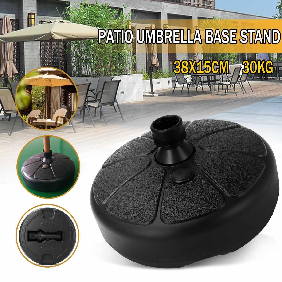 Portable Durable Outdoor Parasol Garden Umbrella Base Stand Round Patio Beach Garden Patio Umbrella Sun Shelter Accessory