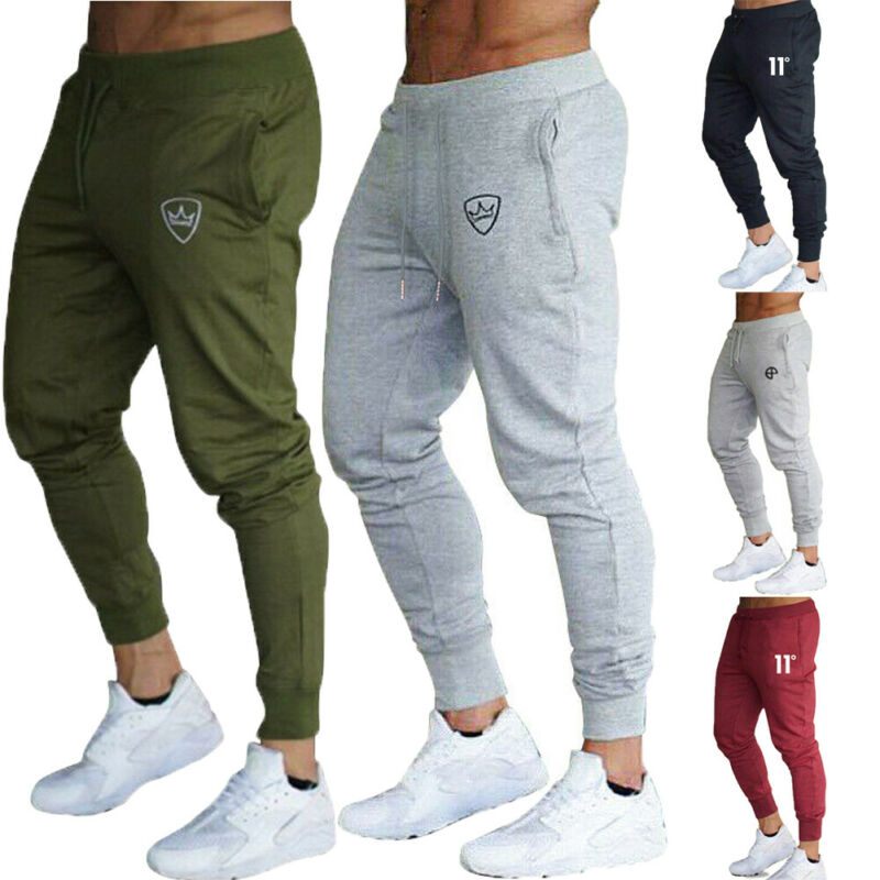 2020 Fashion New Mens Pants Sports Slim Fit Tracksuit Bottoms Skinny Jogging Joggers Sweat Pants Personality Outwear Trousers