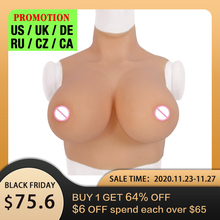Fake Boobs Crossdresser Breast-Forms Tits-Enhancer Drag-Queen Realistic U-CHARMMORE Silicone
