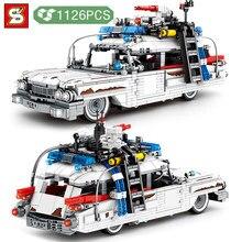 Sy bloco técnico criador pegar fantasma guerreiro carro blocos de construção modelo veículo tijolos construção diy brinquedos para meninos