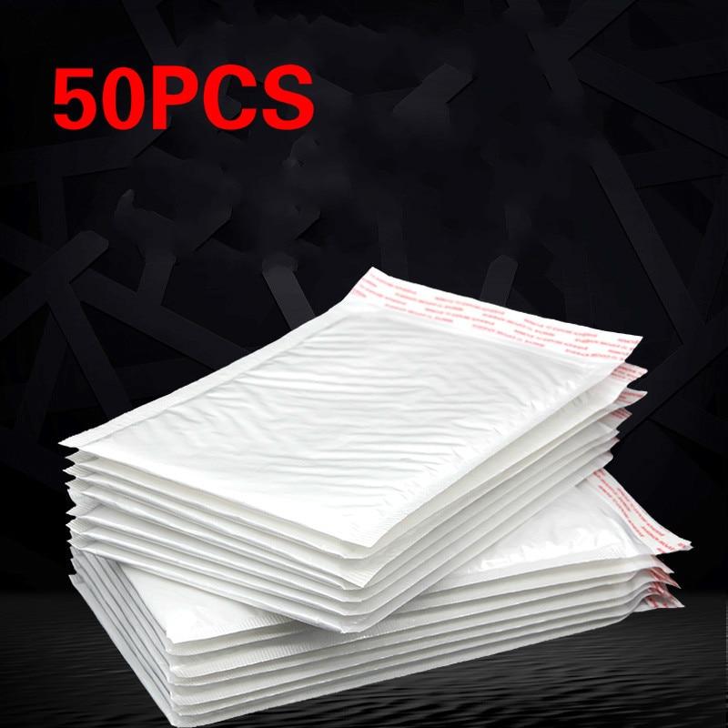 50pcs/lot White Envelope Paper Bubble Bag Foam Collision Postage Delivery Bag Christmas Package Gift Holders 20 * 25cm + 3.5cm