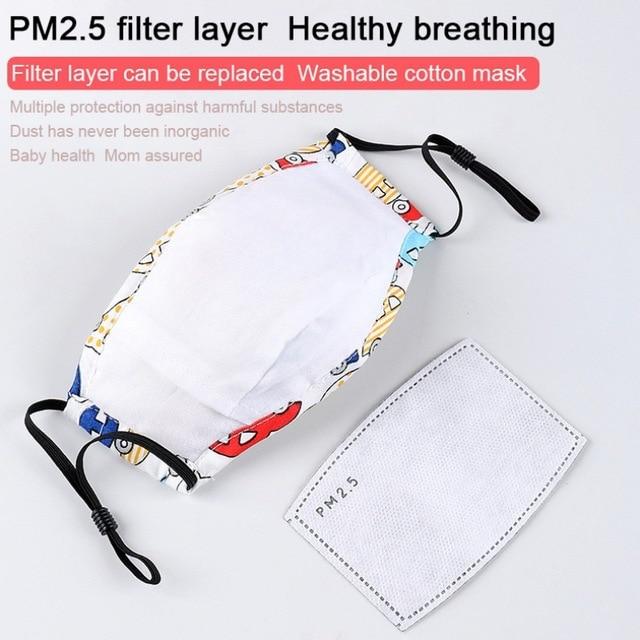 Kids Masks Children Cotton Anti-Dust Face Mouth Mask Cartoon PM2.5 Protective Respirator Reusable Anti Flu Masks1 4