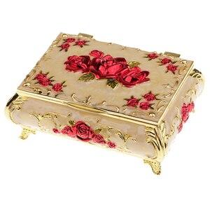 Image 3 - Rus tarzı elmas mücevher kutusu mücevher saklama kutusu düğün hediyesi