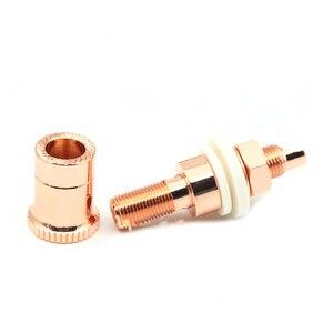 Image 2 - Hifi haut parleur prise cuivre hifi haut parleur connecteur amplificateur borne de liaison poste banane prise connecteur