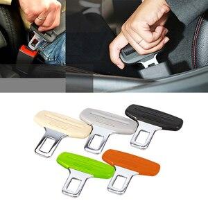 Image 5 - 1pc Creative Black Car Seat Belt Clip Extender ремень безопасности Safety Seatbelt Lock Buckle Plug Thick Insert Socket