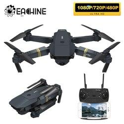 Eachine e58 wifi fpv com grande angular hd 1080 p câmera altura modo de espera braço dobrável rc quadcopter zangão x pro rtf dron para o presente