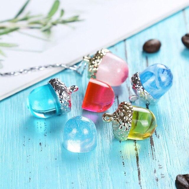 Фото 1 комплект желудь тип смолы силиконовые формы ожерелье крышка цена
