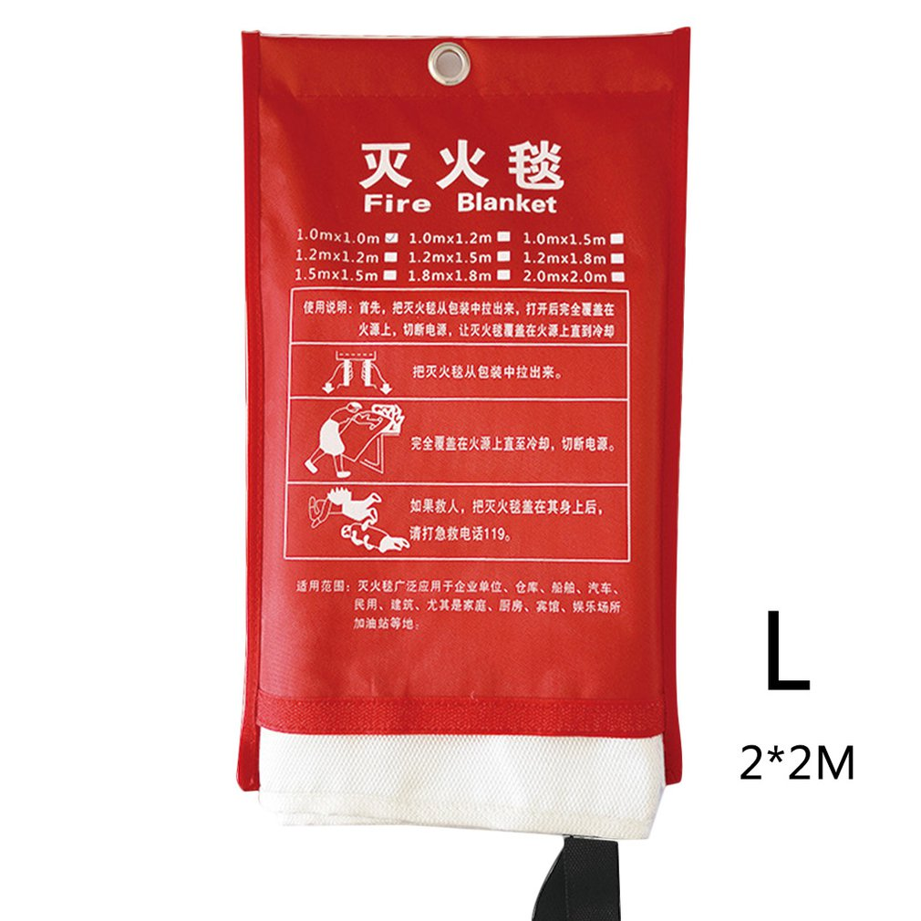 Fire Blanket As A Heat Shield Can Be Cleaned Reused Emergency Survival Fire Blanket For The Kitchen Fireplace Etc