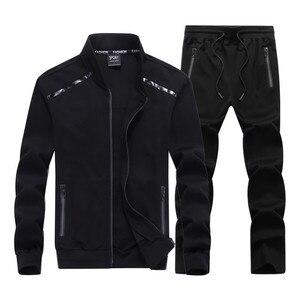 Nuevo chándal de moda para primavera y otoño, ropa deportiva para hombre, conjuntos de calidad, sudaderas para hombre, chaqueta informal + pantalón, traje de talla grande 8XL 9XL
