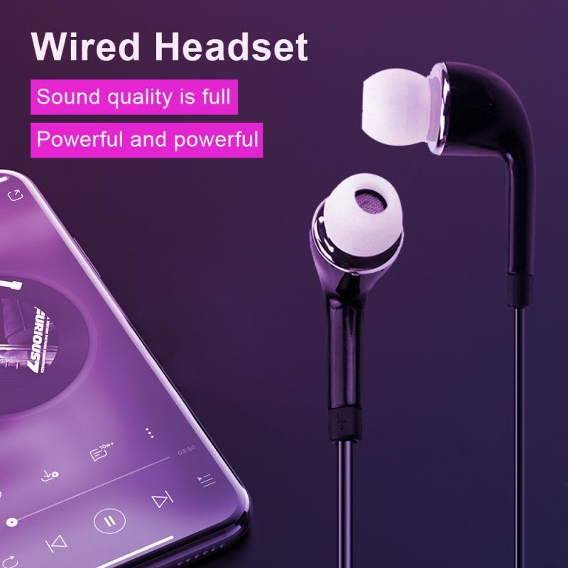 Наушники-вкладыши, универсальная Проводная стереогарнитура для смартфонов Android, Iphone, Huawei с микрофоном, гарнитура громкой связи