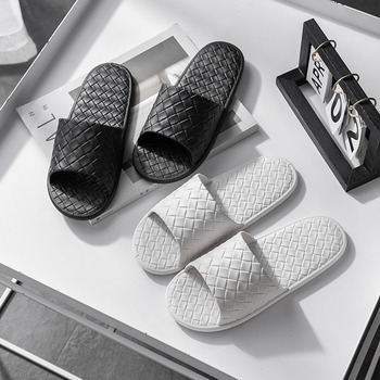 Summer New Indoor Floor Slippers Women Unisex Non-slip Bath Home Slippers Men Soft Soles Comfortable Sandals Male White Shoes 2020 summer cool rhinestones slippers for male gold black loafers half slippers anti slip men casual shoes flats slippers wolf