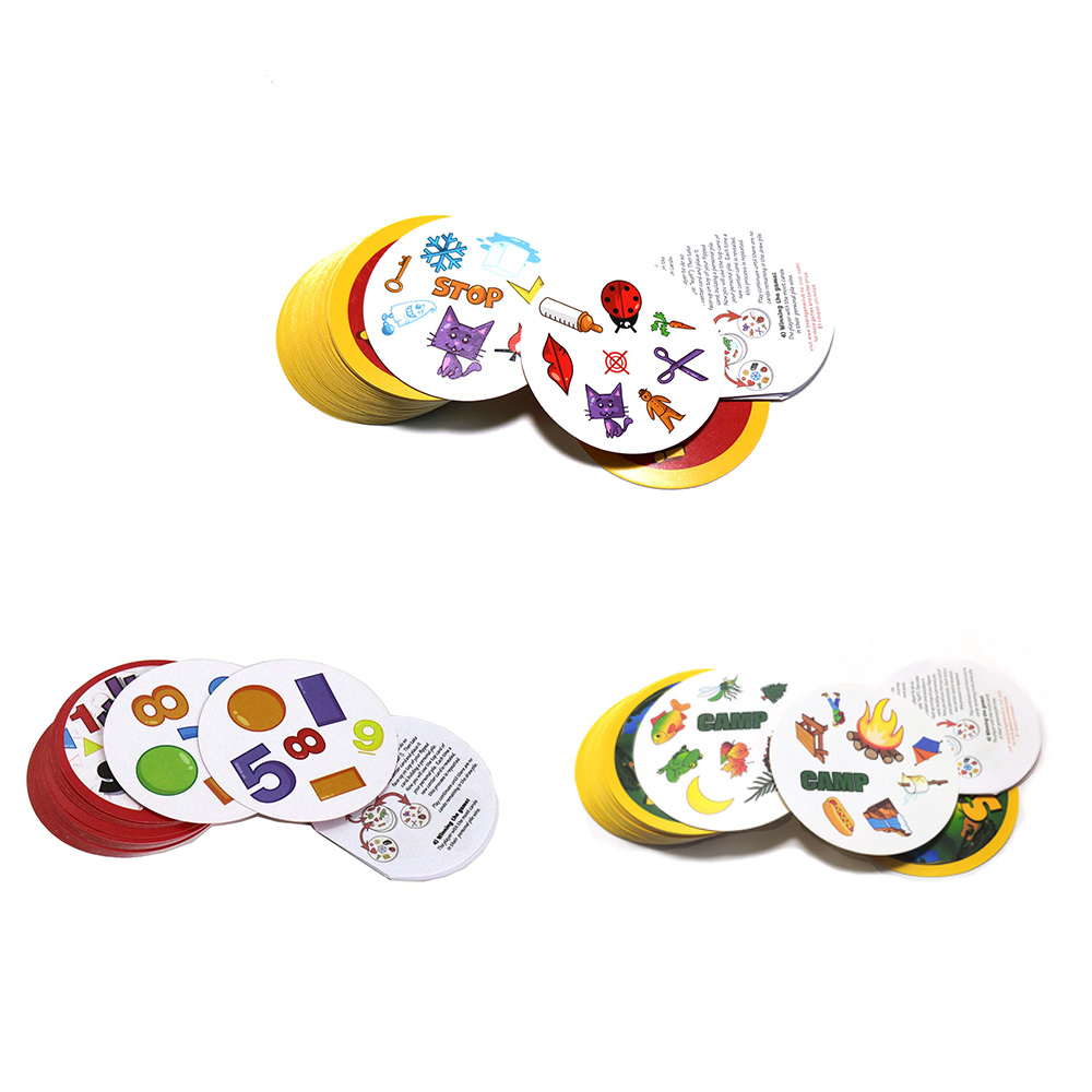 70mm Spot Card Games Mini Style Spot,camping, Number For Kids Like It Card Game Home Party Fun