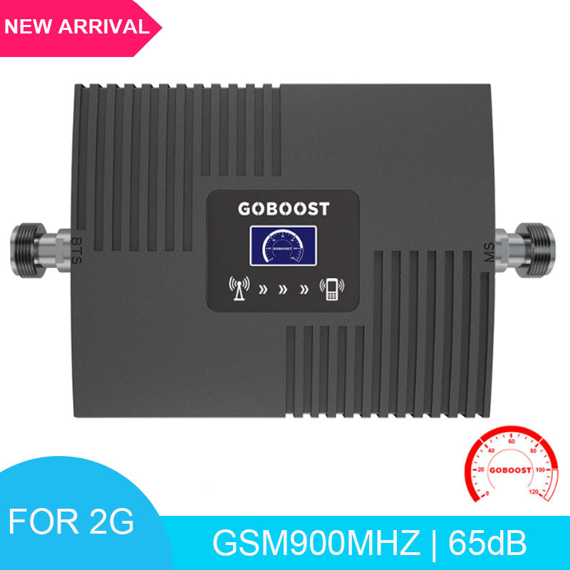 LCD Display Cellular Phone Amplifier Booster Signal GSM 900Mhz 2G Mobile Phones Signal Booster 65dB Gain Phone Repeater