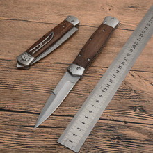 High quality VG-Damascus Steel +Chicken wing wood handle/C36 styles EDC Folding blade Tactical Gear Collection Knives