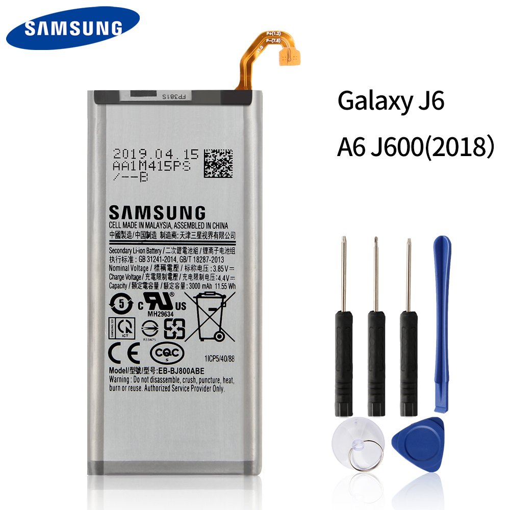 Original Replacement Phone Battery EB-BJ800ABE For Samsung Galaxy J6 A6 On6 2018 version SM-A600F J600 Authenic Battery 3000mAh