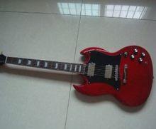 Guitarra elétrica sg vermelho p90 captador frete grátis rápido envio de madeira maciça