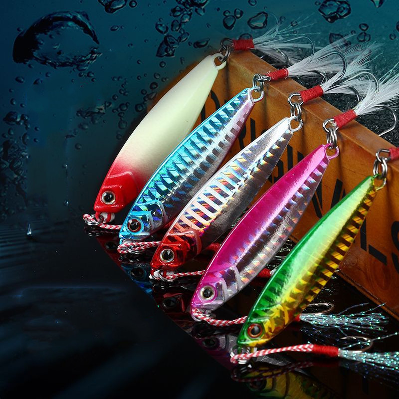 1pc Fishing Lure Metal Jig Wobbler Fishing Spinner Spoon Bait Winter Sea Ice Fishing Hard Lure Tackle Artificial Bait