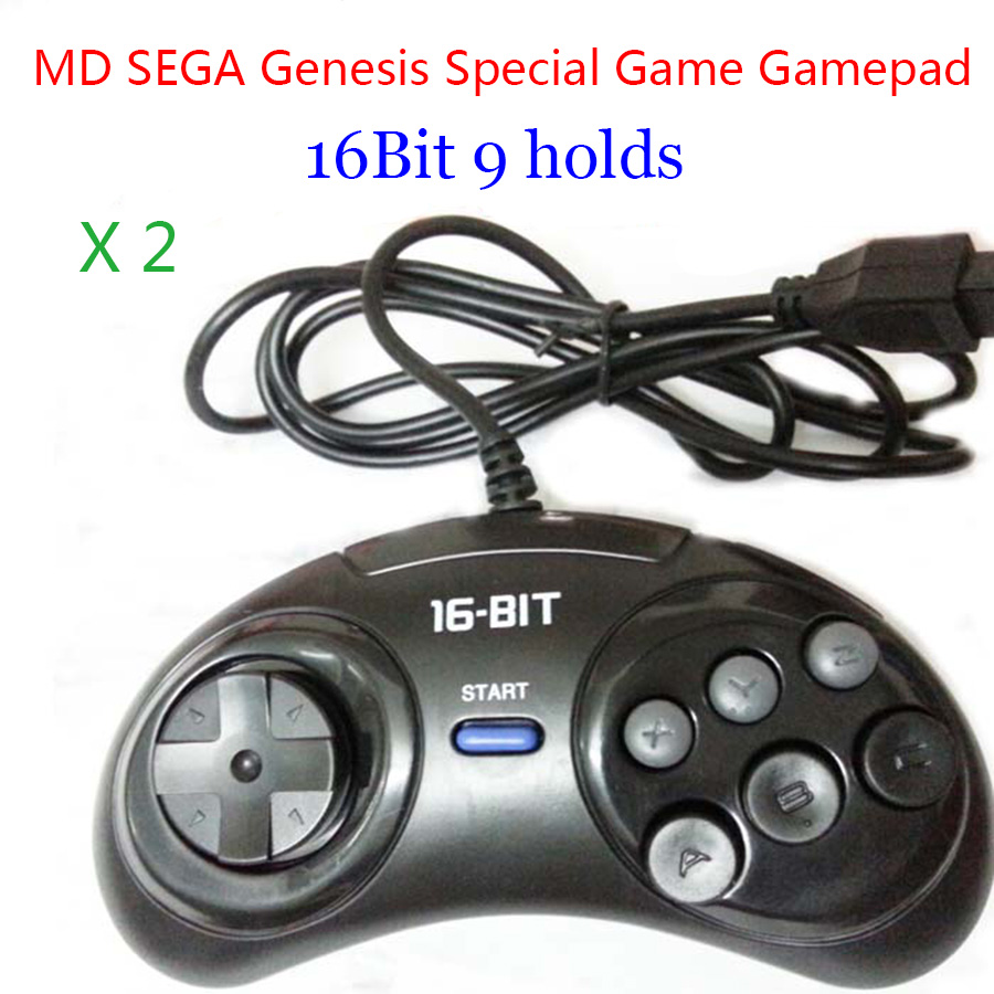 2 шт., игровые джойстики SEGA Sega, 16 бит, 9 отверстий