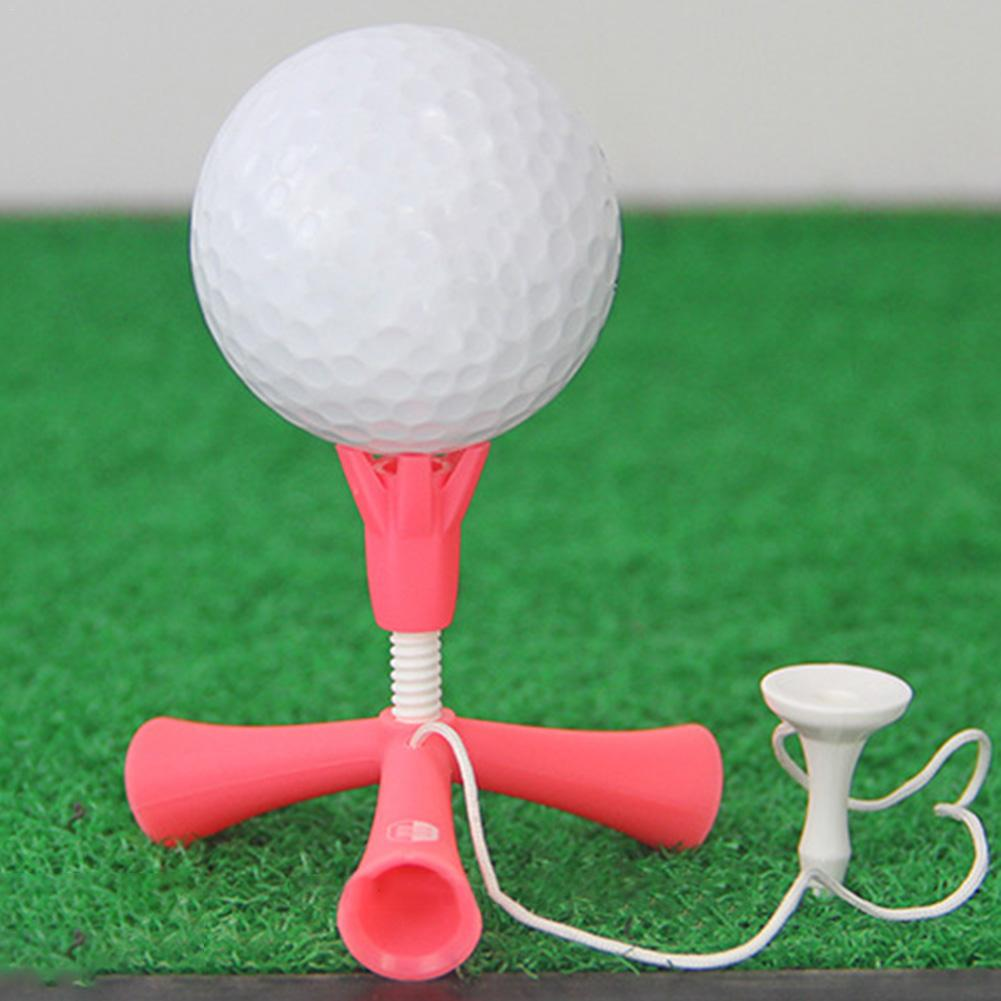 Golf Tees Self Standing Practice Training Ball Holder Anti-flying Rotatable Tripod Adjustable Height Golf Nail Golf Accessories