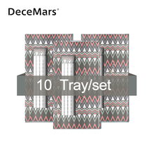 DeceMars Extensiones Tallo largo pestañas prefabricadas 3D 10D, 10 unidades por lote