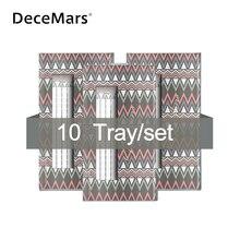 Decemars 10 ケース/ロットロング幹事前メイドボリュームファンまつげ 3D 10Dまつげロシアボリュームまつげ延長プリメイドラッシュ
