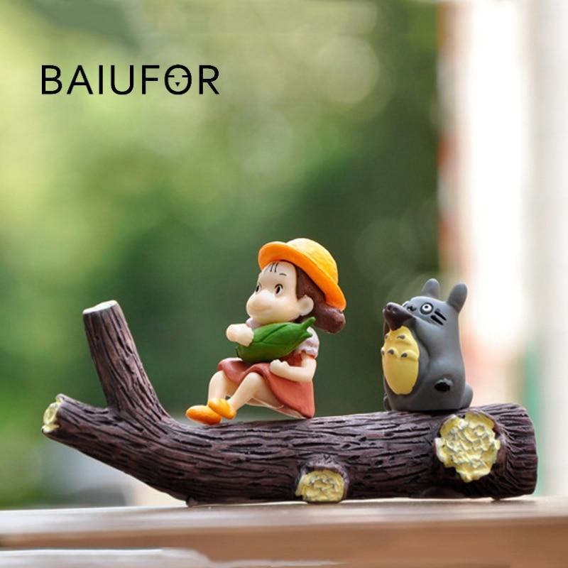 BAIUFOR Anime Action Figures Totoro Mei Model Fairy Garden Miniatures DIY Terrarium Landscape Figurines Aquarium Decoration
