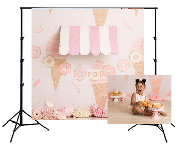 HUAYI Photography Backdrop Birthday Party Desserts Cake Table Decor Photo Background Girls Dounts Ice cream Baby Shower W-3666 - discount item  45% OFF Camera & Photo