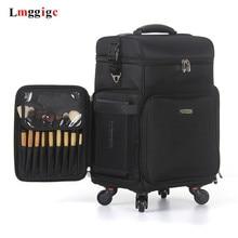 Косметичка на колесиках, багаж из ткани Оксфорд, Многофункциональный косметический и косметический чехол на колесиках, косметический чемодан большой вместимости