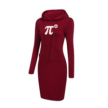 Women Hoodie Dress Long Sleeve Warm Casual Sweatshirt