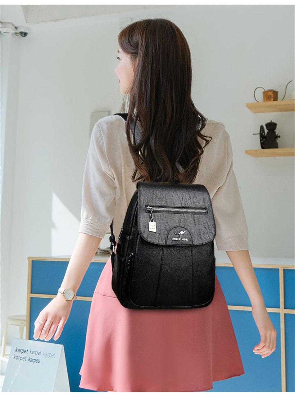 High Quality Female Vintage Backpack
