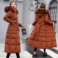 пуховик женский пальто женское длинный пуховик пуховая куртка Пуховик, пуховик, зимнее женское пальто, хлопок 2019, хлопковое длинное пальто, ...