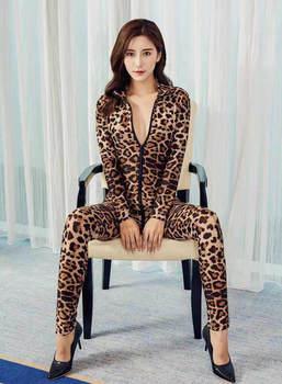 2020 XS-8XL Women Black Striped Sheer Bodysuit Smooth Fiber 2 Zipper Long Sleeve Jumpsuit 5