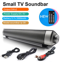 10W Wireless bluetooth Soundbar LP 08 Speaker 3D HiFi Stereo With Subwoofer For Home TV PC Wall mounted Theater Portable Speake