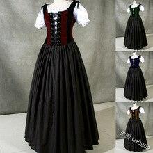Victorian Dress Gothic Lolita Collar Palace Sweet Vintage Kawaii-Girl Cos Op Puff-Sleeve