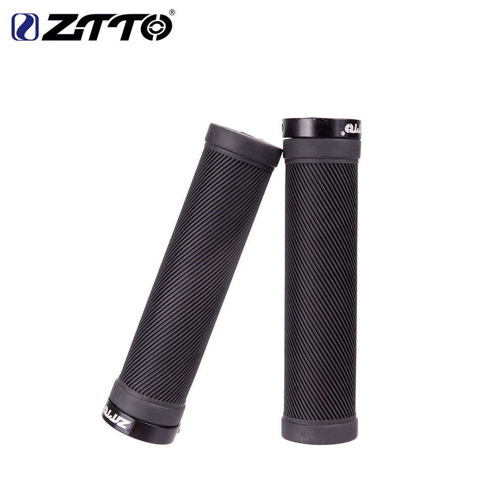Fixed Gear Lockable Anti-Slip <font><b>Bicycle</b></font> Handlebar Grips Shock-Proof Lock-on Rubber Road Mountain Bike Grips <font><b>Bicycle</b></font> <font><b>Parts</b></font> image