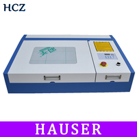Free Shipping 50W CO2 Laser Engraving and Cutting Machine 4040 Laser Engraving and Cutting Machine Linear Guide
