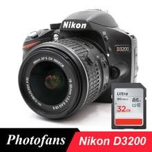 Nikon D3200 DSLR dijital kamera ile 18-55 Lens kitleri (yepyeni)